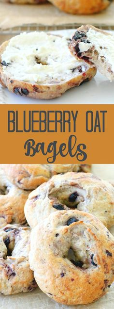 Blueberry Oat Bagels #brunch #cozyhome