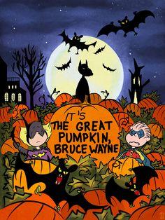 It's the Great Pumpkin, Bruce Wayne by Theamat.deviantart.com on @deviantART