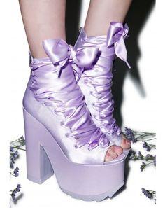 $135 free shipping over $75 to Canada!  Y.R.U. X Dolls Kill Ballet Bae Satin Platforms | Dolls Kill