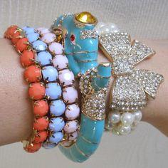 Elephant Bow Bracelet Set Blue #cute #jewelry #baubles #mimiboutique