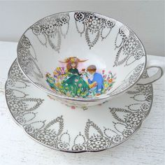 Vintage Royal Grafton Foster Signed Bone China by twolittleowls