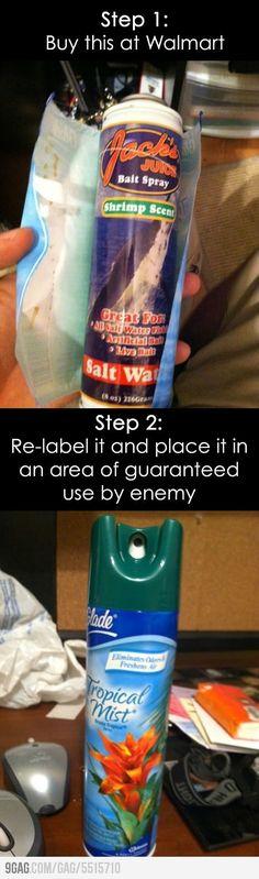 Nasty pranks to pull on enemies