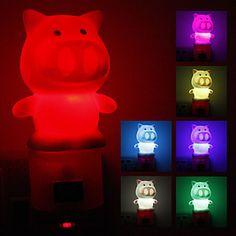 Cambio de color en forma de luz de la noche del LED del cerdo (220) – EUR € 2.88