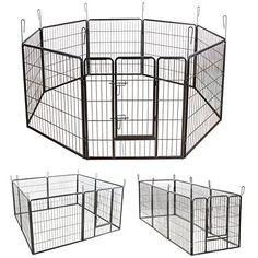 Aus der Kategorie Laufställe  gibt es, zum Preis von EUR 64,95  <b>Produktdetails:</b> <br> - Material: Stahlrohr <br> - Größe jeder Gitterwand: 80 x 80 cm <br> - Größe in rechteckiger Form: ca. 246 x 83 cm <br> - Diagonale in achtseitiger Form: 210 cm <br> - Abstand von gegenüberliegenden Seiten in achtseitiger Form: 200 cm <br> - Größe in Quadrat: 163 x 163 cm <br> - Türgröße: 32 x 62 cm <br> - Gitterabstand: 15 x 3,8 cm <br> - Nettogewicht: 22,5 kg <p> <b>Artikelbeschreibung:</b> <br…