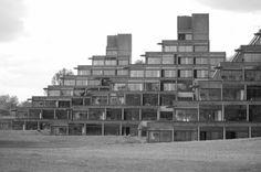 University of East Anglia, Norwich, Norfolk, England. Ziggurats