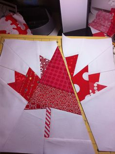May Bee Adventurous: Maple Leaf Foundation paper piecing block | adnohr blog