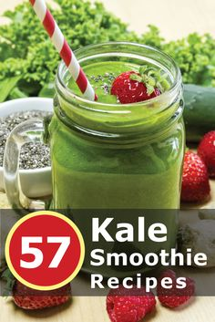 57 Amazing Vegan and Paleo Friendly Kale Smoothie Recipes. Click the image to get your recipes now!