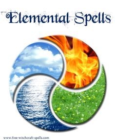 Elemental Magic Spells harness the power of the 4 elements: air, earth, fire, water for your witchcraft spells
