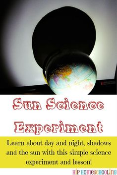 Science experiments to learn about the sun, soil, and water! This experiment is good to describe how we have different seasons/sun light hitting the earth/the tilt of the earth to your students. Earth Science Experiments, Science Experiments For Preschoolers, Earth And Space Science, Science Fair Projects, Science Lessons, Science For Kids, Water Experiments, Science Labs, Summer Science