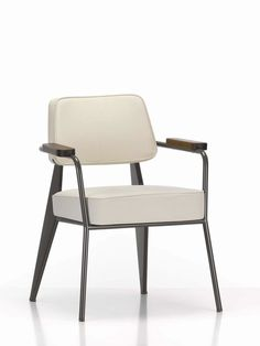 Contemporary armchair / in textile / by Jean Prouvé FAUTEUIL DIRECTION vitra