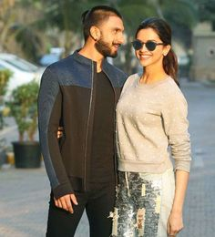 Ranveer Singh and Deepika Padukone posed for the shutterbugs at a promotional event of their upcoming film Bajirao Mastani. Deepika Ranveer, Ranveer Singh, Deepika Padukone, Promotional Events, Upcoming Films, Indian Film Actress, Together Forever, Bollywood Actors, Men Sweater
