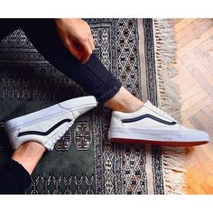 Premium Leather Old Skool Zip in White, Vans, Buying 4 shur Vans Sneakers, Tenis Vans, Sneakers Mode, Sneakers Fashion, Fashion Shoes, Vans Shoes Outfit, Vans Socks, Sock Shoes, Cute Shoes