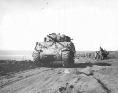 Tank M4A3 (75) W 5th Division U.S. Marine Corps on Iwo Jima.