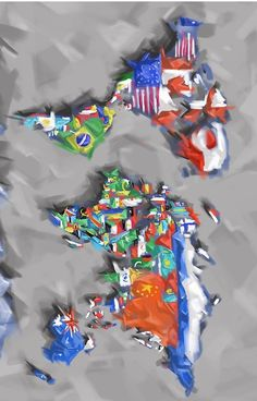world map flags 3