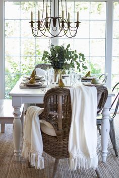 A fall home tour sharing farmhouse/cottage style home decor and tips for decorating during the season of fall. Good for any budget and style of home.