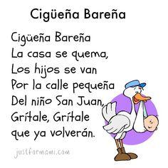 Rima para niños Cigueña Bareña #rimas #rimasparaniños #rimascortas