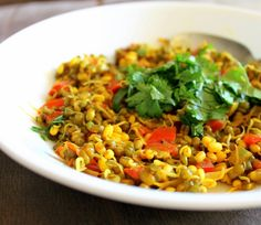 Mung Bean Sprouts sauteed with spices