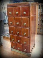 meuble fichier  de banque 1900