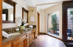 One of the many luxurious bathrooms in this Arcadia, California featured listing.