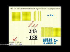 math worksheet : 11 3 trade first subtraction algorithm  every day math  : Trade First Subtraction Worksheets