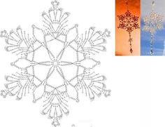 FREE DIAGRAM ~ crochet snowflake – A beautiful snowflake … – Snowflakes World Crochet Snowflake Pattern, Crochet Motifs, Crochet Snowflakes, Crochet Diagram, Thread Crochet, Crochet Doilies, Crochet Flowers, Crochet Christmas Ornaments, Christmas Crochet Patterns
