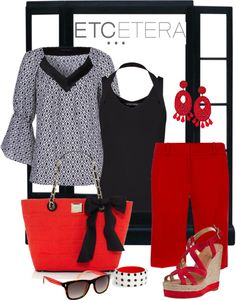 """""""ETC Summer Red"""" by lee522 ❤ liked on Polyvore"""