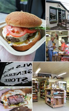 """I'd rather be in Maine, chowing down on this burger! """"Seven Napkin"""" Burger (Owls Head General Store)"""
