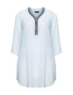 Zhenzi Embellished tunic in Light-Blue