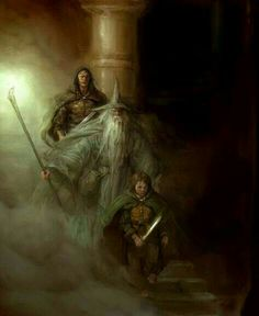 Justin Sweet, concept art for The Lord of the Rings: The Fellowship of the Ring video game by Vivendi-Universal.