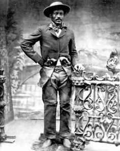 "A Black outlaw and rustler was Ned Huddleston (also known as Isom Dart) he was born a slave in Arkansas in 1849. He earned a reputation as a rider, roper and bronco-buster and was called the ""Black Fox"" and the ""Calico Cowboy."" He was also a notorious Wyoming Territory outlaw. In 1861 twelve-year-old, Huddleston accompanied his owner, a Confederate officer, to Texas during the Civil War."