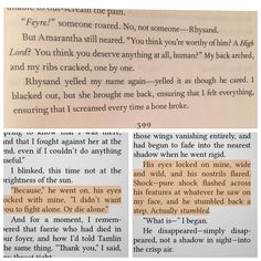 OH MY GOD! When Anarantha says that she isn't deserving of a high lord, what if she meant Rhys, not Tamlin, because she could already feel the bond between them?! Feyre & Rhys in A Court of Thorns and Roses