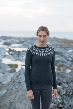 Ravelry: Lighthouse Pullover pattern by Carrie Bostick Hoge Ravelry: Lighthouse Pullover pattern by Carrie Bostick Hoge Jumper Knitting Pattern, Fair Isle Knitting Patterns, Knit Patterns, Pullover Design, Sweater Design, Fair Isle Pullover, Icelandic Sweaters, Nordic Sweater, Mode Inspiration