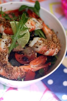 Salade de Gambas Bio, agrumes & riz vénéré - Food4GoodFood4Good
