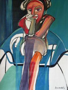 Donna seduta. Woman sitting. 1995. Gabriele Donelli