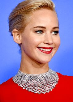 Actress Jennifer Lawrence poses in the press room during the 73rd Annual Golden Globe Awards held at the Beverly Hilton Hotel on January 10, 2016 in Beverly Hills, California.