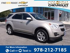 2010 *Chevrolet* *Chevy*  *Equinox* *LT*  53k miles $13,995 53386 miles 978-212-7185 Transmission: Automatic  #Chevrolet #Equinox #used #cars #ColonialChevroletofActon #Acton #MA #tapcars