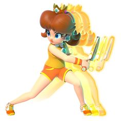 View an image titled 'Daisy Art' in our Mario Tennis Aces art gallery featuring official character designs, concept art, and promo pictures. New Super Mario Bros, Super Mario Art, Super Mario Brothers, Mario Princess Daisy, Nintendo Princess, Princesa Daisy, Princesa Peach, Mario Bros., Mario And Luigi
