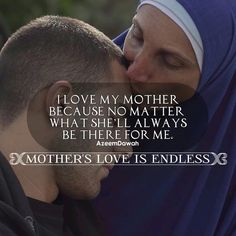 I love my MOTHER Because MO matter what she'll always be there for me Mother's love is endless