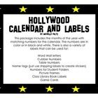 I had so much fun creating Hollywood labels for my classroom and decided to try stars. This package includes:  Months of the Year labels  Numbers 1...