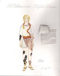 Watercolor Costume Renderings Of My Designs For A Midsummer Nights Dream