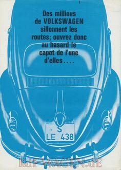 VW - 1965 - Des million des Volkswagen sillonnent les routes; ouvrez donc au hasard le capot de l´une d´elles ... - WEB-KEW 116-1636 - [8817]-1