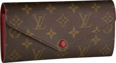 Louis Vuitton Josephine wallet. The red is adorable!