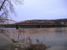 Binghamton NY Map -Washington Street Bridge, Binghamton, NY