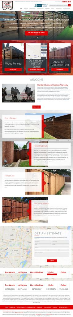 fort worth fence company new website