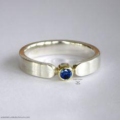 Saphir in Gold – Ring – Antragsring – Verlobungs – Gold, Silber