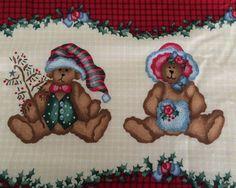 Christmas Daisy Kingdom Fabric 5 Yards Double Border Ted E Bear Teddy Bears    eBay