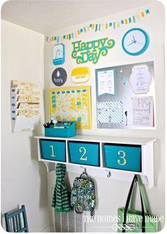 image Parent Command Center, Command Center Kitchen, Command Centers, Back To School Organization, Closet Organization, Kitchen Organization, Organization Ideas, Layout Design, Design Design