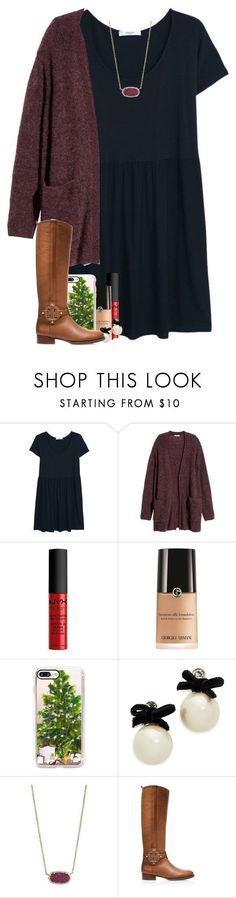 """day fourteen: lighting the advent candle"" by madelinelurene liked on Polyvore featuring MANGO, H&M, NYX, Giorgio Armani, Casetify, Kate Spade, Kendra Scott, Tory Burch and gabschristmascontest17"
