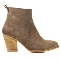 'Carrie' Hand crafted, brown suede ankle boots by Seven Boot Lane