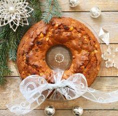 Karácsonyi gyümölcskenyér koszorú Zelleitündi módra Bagel, Camembert Cheese, Dairy, Bread, Brot, Baking, Breads, Buns
